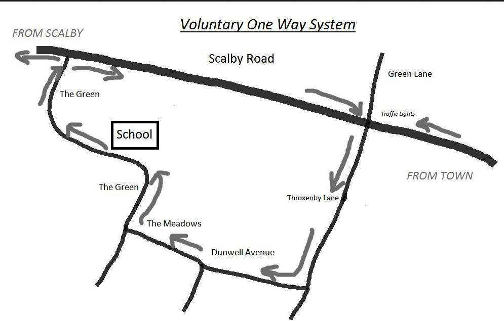 Voluntary One way system for cars